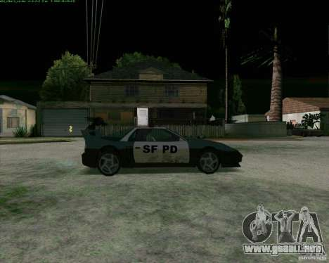 Supergt - Police S para GTA San Andreas vista posterior izquierda