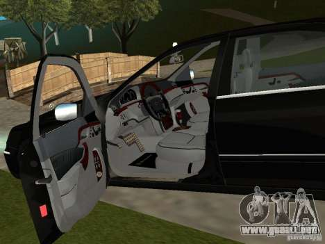 Mercedes-Benz S600 Biturbo 2003 v2 para GTA San Andreas vista hacia atrás