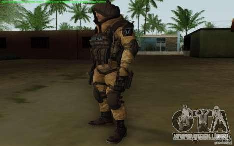 Francotirador Warface para GTA San Andreas segunda pantalla