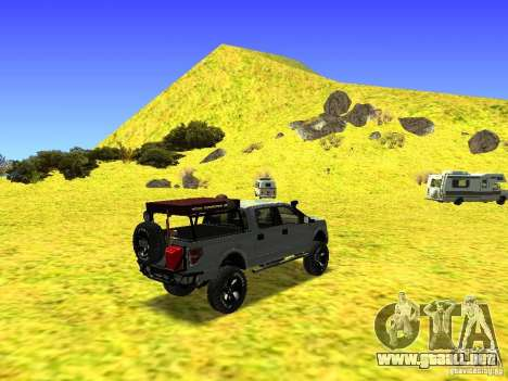 Ford F-150 Off Road para GTA San Andreas vista hacia atrás