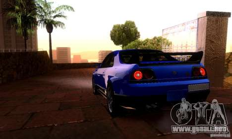 Nissan Skyline GT-R R-33 v2.0 para GTA San Andreas left