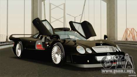 Mercedes-Benz CLK GTR Race Road Version Stock para vista lateral GTA San Andreas