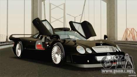 Mercedes-Benz CLK GTR Race Road Version Stock para vista lateral GTA San Andreas