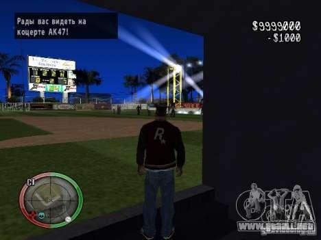 Concierto del AK-47 v2 para GTA San Andreas segunda pantalla