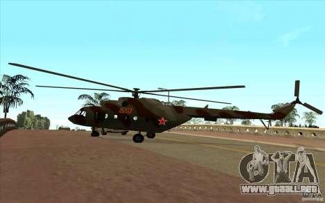 Militar MI-17 para GTA San Andreas