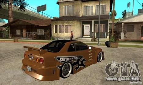 Nissan Skyline GTR - EMzone B-day Car para la visión correcta GTA San Andreas