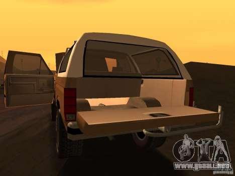 Ford Bronco 1985 para la visión correcta GTA San Andreas