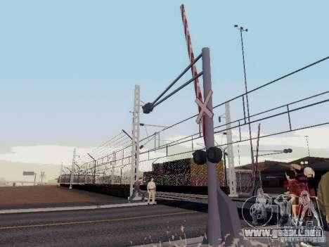 FERROCARRIL cruzando RUS V 2.0 para GTA San Andreas segunda pantalla