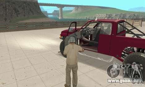 Dodge Ram Prerunner para GTA San Andreas vista hacia atrás