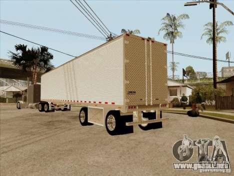Trailer, Peterbilt 379 personalizado para GTA San Andreas vista hacia atrás