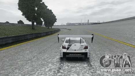 Toyota Team NFS AWD Scion tC para GTA 4 vista hacia atrás