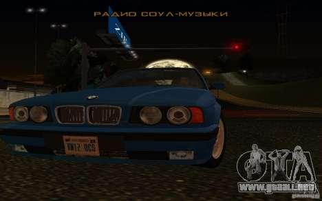 BMW 525 E34 V.3 para GTA San Andreas vista hacia atrás
