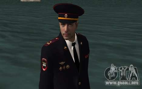 El funcionario del Ministerio del INTERIOR para GTA San Andreas sucesivamente de pantalla