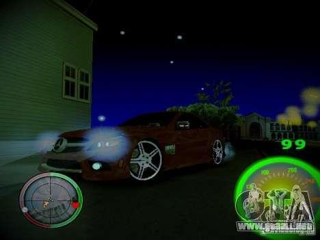 Velocímetro de Centrale para GTA San Andreas sucesivamente de pantalla