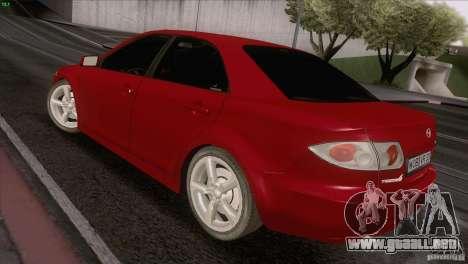 Mazda 6 2006 para GTA San Andreas vista hacia atrás