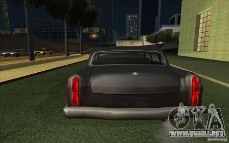 Civilian Cabbie para GTA San Andreas vista posterior izquierda