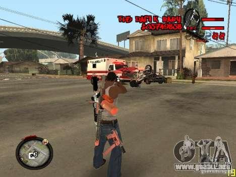Hud by Dam1k para GTA San Andreas segunda pantalla
