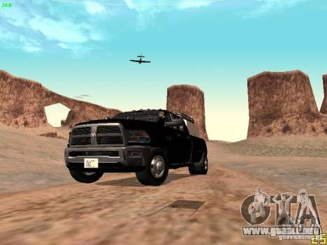 Dodge Ram 3500 Unmarked para la vista superior GTA San Andreas