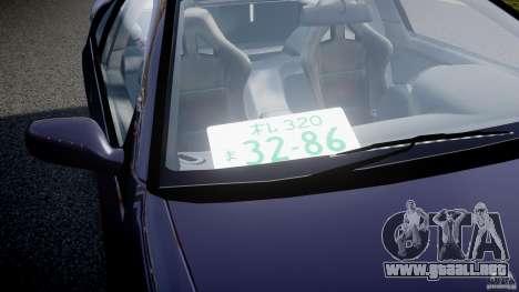 Nissan 300zx Fairlady Z32 para GTA 4 vista desde abajo