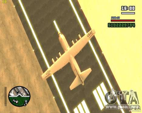 C-130 hercules para visión interna GTA San Andreas