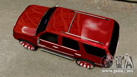 Cadillac Escalade 2011 DUB para GTA 4 visión correcta