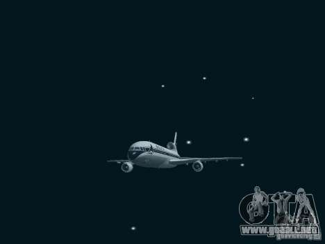 L1011 Tristar Delta Airlines para GTA San Andreas vista hacia atrás
