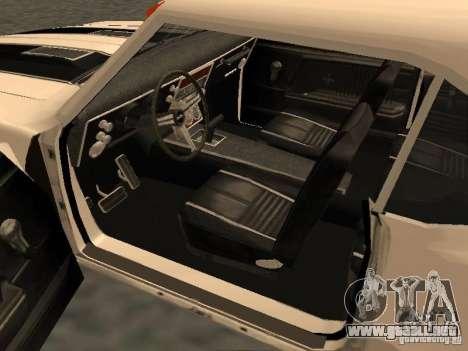 Chevrolet Camaro SS 396 Turbo-Jet para visión interna GTA San Andreas