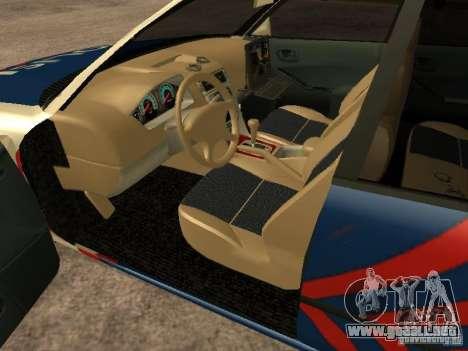 Mitsubishi Galant Police Indanesia para GTA San Andreas vista posterior izquierda