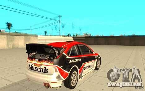Ford Focus RS WRC 08 para GTA San Andreas interior