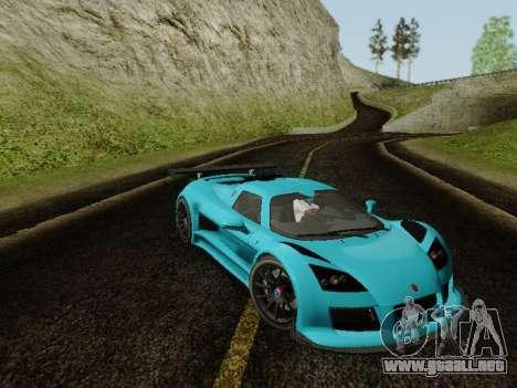 Gumpert Apollo S 2012 para GTA San Andreas vista posterior izquierda