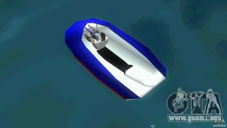 Speedboat dinghy para GTA Vice City vista lateral izquierdo
