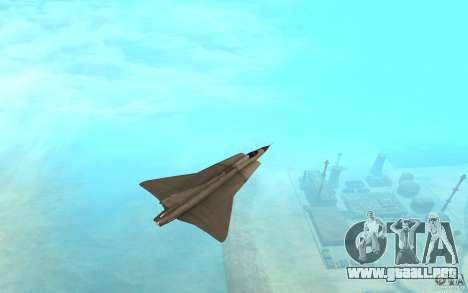 Saab J-35 Draken para GTA San Andreas vista posterior izquierda