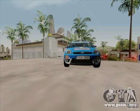 Ford Fiesta ST Rally para GTA San Andreas vista hacia atrás