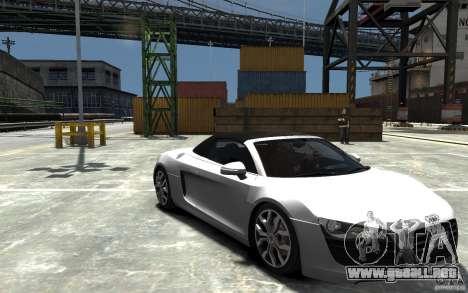 Audi R8 Spyder 5.2 FSI Quattro V4 [EPM] para GTA 4 vista superior