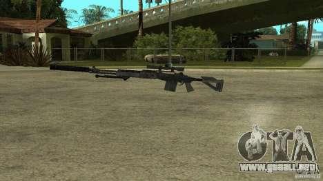 Mk14 EBR con silenciador para GTA San Andreas tercera pantalla