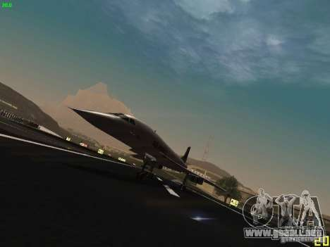 Aerospatiale-BAC Concorde Air France para GTA San Andreas left