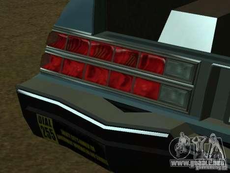 El taxi de romanos de GTA4 para GTA San Andreas interior