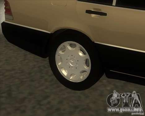 Mercedes Benz 400 SE W140 (Wheels style 2) para la visión correcta GTA San Andreas