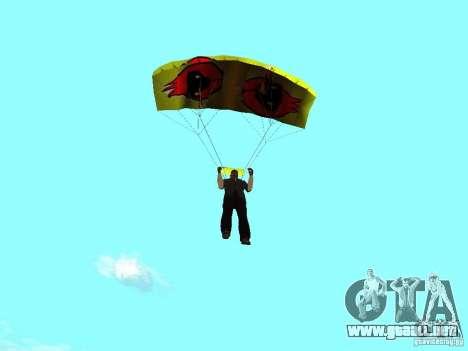 El paracaídas con el pájaro de Omsk para GTA San Andreas segunda pantalla