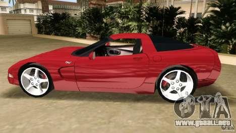 Chevrolet Corvette Z05 para GTA Vice City vista interior