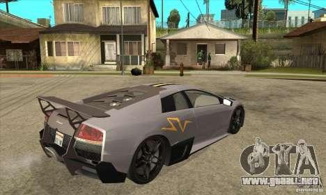 Lamborghini Murcielago LP 670 SV para la visión correcta GTA San Andreas