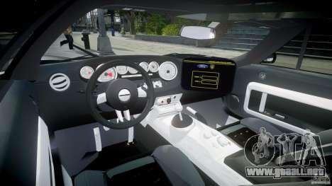 Ford GT1000 Hennessey Police 2006 [EPM][ELS] para GTA 4 visión correcta