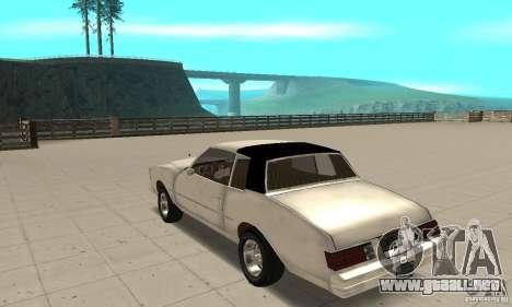 Chevrolet Monte Carlo 1976 para GTA San Andreas vista posterior izquierda