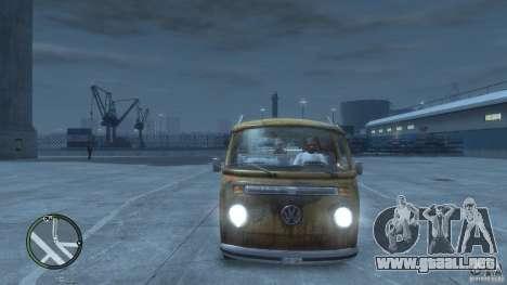 VW Transporter T2 para GTA 4 vista interior