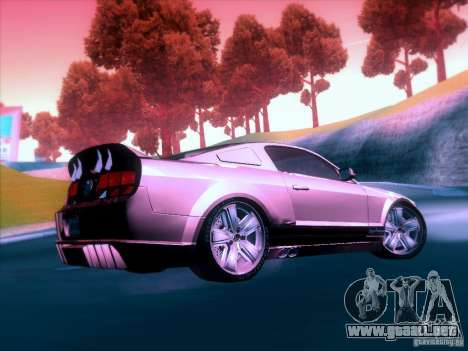 Ford Mustang Eleanor Prototype para vista lateral GTA San Andreas