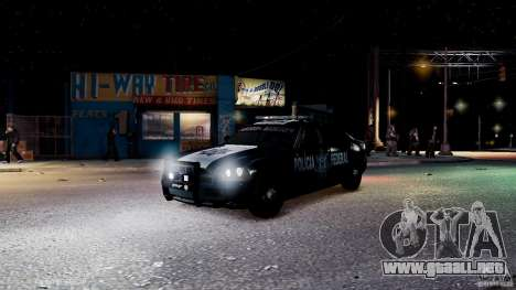 POLICIA FEDERAL MEXICO DODGE CHARGER ELS para GTA 4 interior
