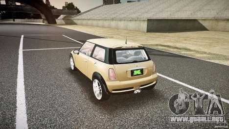 Mini Cooper S para GTA 4 Vista posterior izquierda