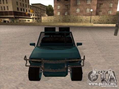 Small Cabrio para GTA San Andreas vista posterior izquierda