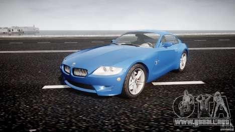 BMW Z4 Coupe v1.0 para GTA 4 vista hacia atrás