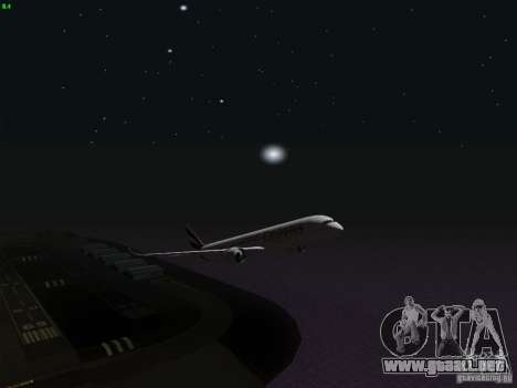 Airbus A350-900 Emirates para vista inferior GTA San Andreas